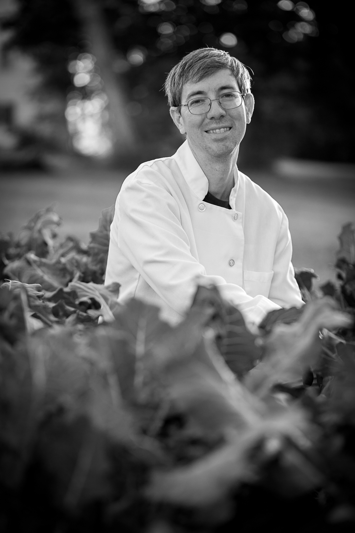 chef in the broccoli row