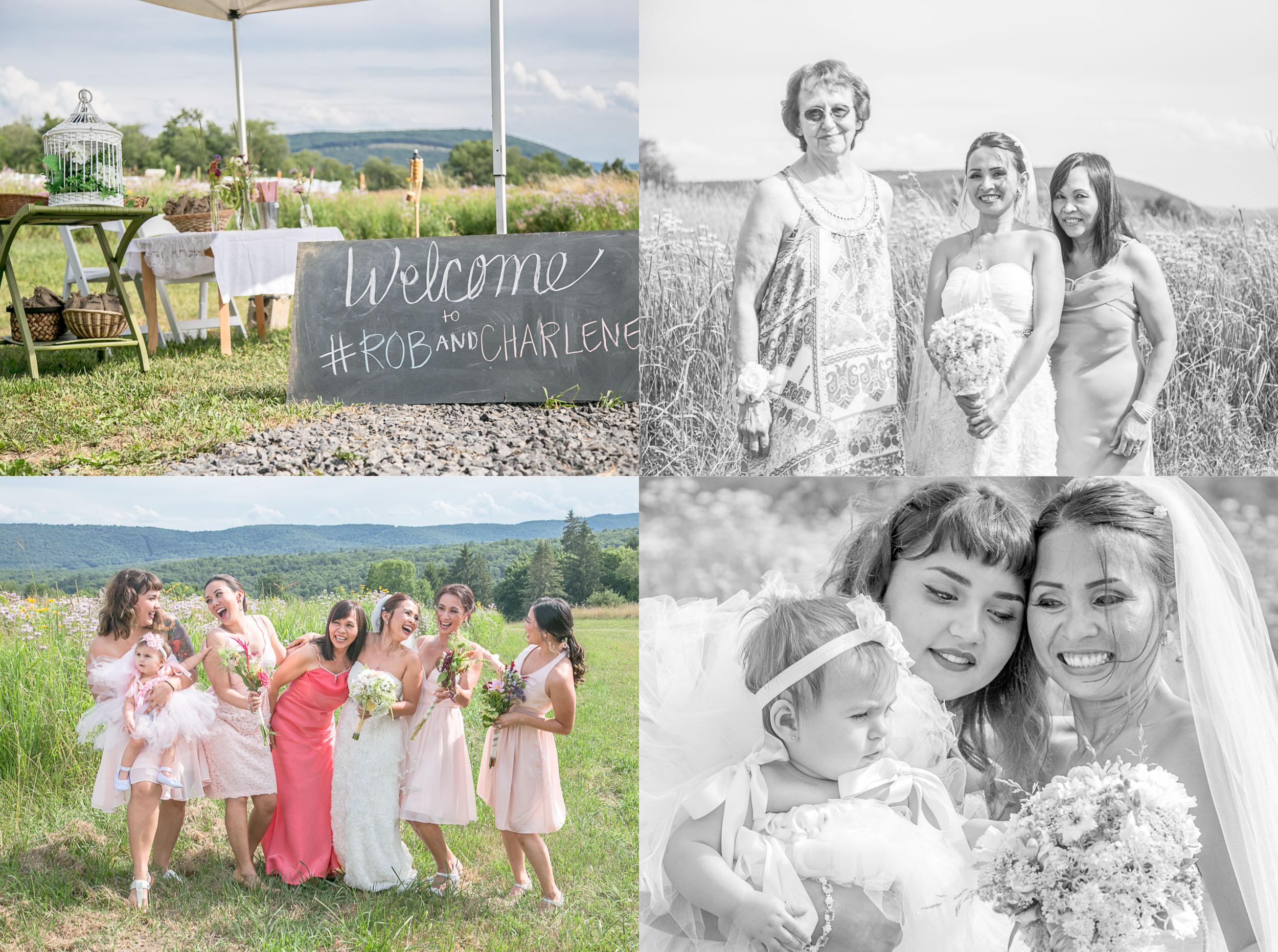 bridesmaids collage